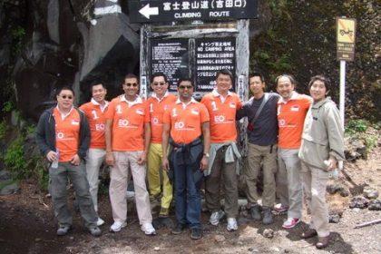 シンガポールの起業家と富士山トレッキング