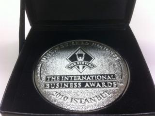 Stevie国際ビジネス賞の奨励賞を受賞!